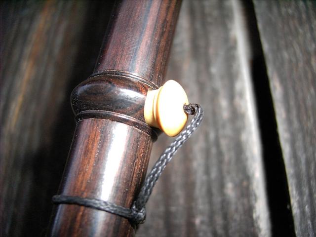 Schäferpfeife, 3 Bordune, Grenadill, Detail 2: Großansicht