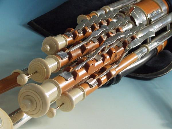 Master Set Uilleann Pipes in D, Detail 2: Großansicht